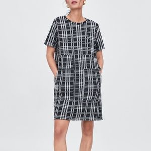 Zara Jacquard Check Dress
